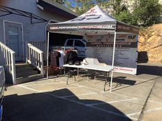 10' by 10' Pop Up Tent for Diesel Performance Specialties.