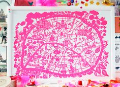 Map of Paris.... but I will be making a map of Rome (my wedding destination).