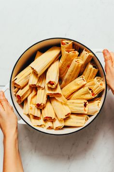 How to Make Tamales! Step-by-step guide, simple methods, PERFECT tamales! #glutenfree #sweetpotato #blackbeans #chicken #tamales #recipe #minimalistbaker How To Make Tamales, Chicken Tamales, Dairy Free Yogurt, Minimalist Baker, Black Beans, Sweet Potato, Plant Based, Step Guide, Veggies