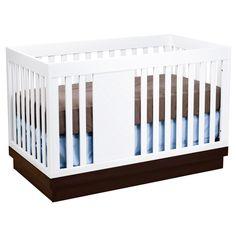 babyletto Harlow 3-in-1 Convertible Crib in White/Espresso