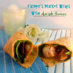 #WeekdaySupper #ChooseDreams Farmer's Market Wraps with Avocado Hummus http://goo.gl/QwIzeR