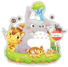 My Neighbor Totoro Studio Ghibli Anime Car Window Decal Sticker ...