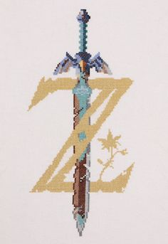 I designed and cross stitched my very own Legend of Zelda Breath of the Wild logo! Visit blazezelda.tumblr.com Wild Logo, Legend Of Zelda Breath, Breath Of The Wild, Breathe, Cross Stitch Patterns, Presents, Cross Stitch Charts, Cross Stitch Designs