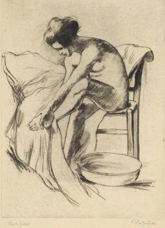 Armand Rassenfosse (1862-1934). Alice. Aquatinte