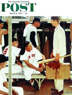 The Rookie (Norman Rockwell March 2, 1957)