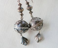 Vintage Dangle Earrings Ethnic Tribal Style 900 by TheJewelryChain
