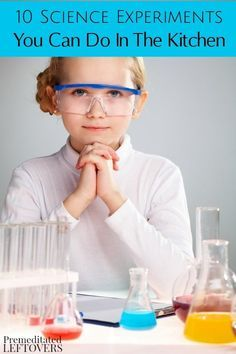 Science Experiments for kids are so much fun and easy to do at home without any fancy tools. Here are 10 Science Experiments You Can Do in the Kitchen! Science project idea and kitchen activities for kids including recipe for ice-cream and garden activity