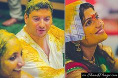 Both The Bride & Groom Glow Their Skin With The Turmeric Paste.