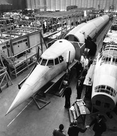 Vintage: A Concorde model aircraft from 1963 - My Dad worked on the building & testing of Concorde & he is still proud of it today :)