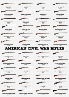 American Civil War Rifles by Zapista OU Military Weapons, Weapons Guns, Guns And Ammo, American Civil War, American Presidents, American History, Army Vehicles, Civil War Photos, Firearms