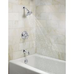KOHLER Elliston Polished Chrome 1-Handle Bathtub and Shower Faucet ...