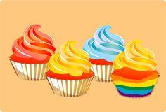 wikiHow to Make a Rainbow Cupcake -- via wikiHow.com