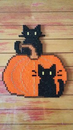 Halloween Kürbis aus Bügelperlen