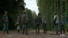"The Walking Dead - 04x13 ""Alone"" you never know what you will run into on the road...."