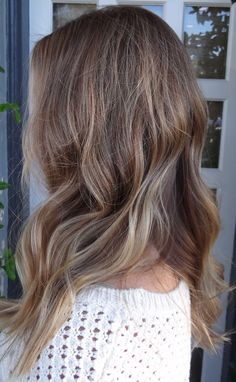 brunette with subtle blonde highlights hair color