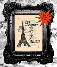 Ordered 3 prints for master bedroom! Parisian Room, Parisian Decor, Black White Parties, French Country Bedrooms, Paris Party, Master Bedroom Makeover, Vintage Art Prints, Fun Projects, French Vintage