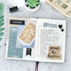 🖤 This is my second journal! My RECIPE book 😊 Stay stuned! Bullet Journal Spread, Bullet Journal Ideas Pages, Bullet Journal Inspiration, Journal Pages, Recipe Book Design, Cookbook Design, Bujo, Homemade Recipe Books, Scrapbook Recipe Book