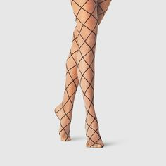 Women's Diamond Shift Tights - A New Day Nude Size: White Black Sheer Socks, Sheer Tights, Floral Tights, Colored Tights, Shaping Tights, Assets By Spanx, Fishnet Stockings, Fashion Tights, Black High Heels