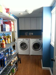 Updated Laundry Room with storage galore.