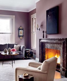 Awesome Purple Living Room Wall Color Ideas 19710 Source by classandspace Mauve Living Room, Living Room Colors, New Living Room, Living Room Decor, Mauve Bedroom, Family Room Design, Interior Design Living Room, Living Room Designs, Room Interior