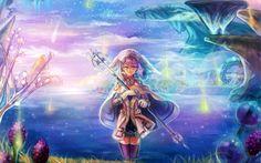 Melia Antiqua, anime, blue, fantasy, game, girl, melia, sexy, xenoblade chronicles