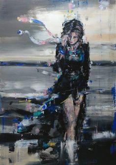 "Saatchi Art Artist OSCAR ALVAREZ; Painting, ""NS-8"" #art"