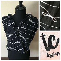 LuLaRoe Leggings TC Bows Ribbons Black & White Unicorn BNWT Tall & Curvy RARE $27.99 FREE SHIPPING!