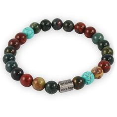 * Unique natural stones * From the Danish brand Lucleon * No two bracelets are alike * One size fits most Bracelet Cuir, Bracelet Set, Bracelets For Men, Beaded Bracelets, Bracelets Bleus, Tiger Eye Bracelet, Red Tigers Eye, Square Rings, Stone Bracelet