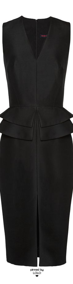 MARTIN GRANT Wool-Blend Peplum Dress | LOLO❤︎