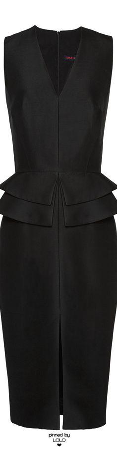 MARTIN GRANT Wool-Blend Peplum Dress   LOLO❤︎