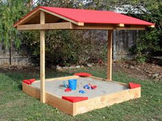 Build a sandbox with a roof for hours of fun in the shade >> http://www.diynetwork.com/how-to/outdoors/landscaping/how-to-build-a-covered-sandbox?soc=pinterest
