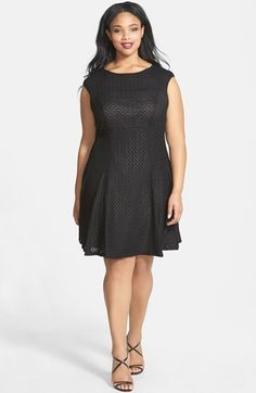 Gabby+Skye+Lace+Fit+&+Flare+Dress+(Plus+Size)+available+at+#Nordstrom