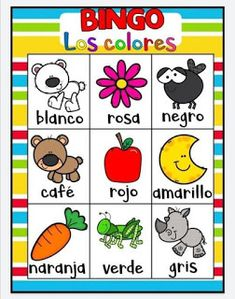 Juego bingo de los colores para aprender los colores Educational Activities For Toddlers, Spanish Activities, Color Activities, Free Preschool, Preschool Worksheets, Science Experiments Kids, Toddler Learning, Toddler Crafts, Diy For Kids