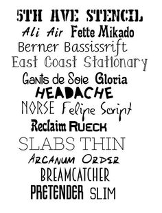 New Fonts February 2015  ~~ {17 Free Commercial Use fonts - no links, but all available from dafont.com -- spelled wrong on list: Berner Basisschrift, East Coast Stationery and Reclame}