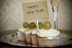 Happy New Year cupcakes from Spain