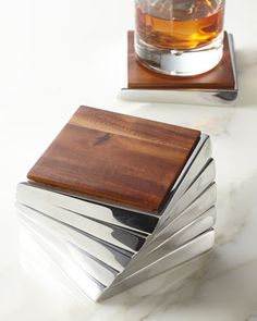 """For Father's Day: """"Twist"""" Coaster Set by Nambe at Neiman Marcus."""