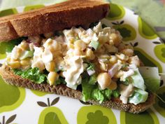 smashed chickpea lemon salad sandwich... I ate it straight out of the bowl but it would be great wrapped in lettuce or on pita too!!