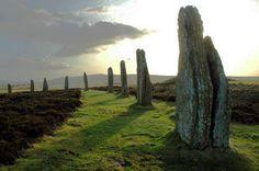Der Ring des Brodgar. Steinkreis in Orkney, Schottland.