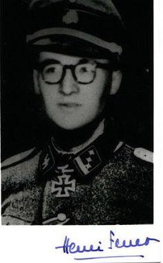"Henri Joseph Fenet (11 Juni 1919 - 14 September 2002) Ritterkreuz (29 April 1945) : SS-Hauptsturmführer dan komandan Sturm-Battailon 33.SS-Freiwilligen-Grenadier-Division ""Charlemagne"" Pangkat terakhir: SS-Hauptsturmführe"