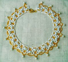 Knitting And Beading Wedding  Bridal Accessories and Free pattern:  Free pattern for necklace Perla *****************...