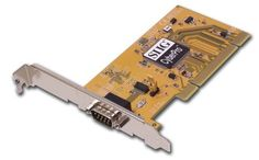 Single Serial (16550) Port by SIIG. $35.62. 1. Supports 32-/64-bit, 3.3V/5V PCI and PCI-X slots 2. One high-speed 16550 UART serial port (9-pin) supports data rate up to 230 Kbps 3. Will work as standard RS232 port or with 5V or 12V power output for devices that require power (such as handheld scanners, table scanners, POS displays, etc.). Configurable via jumpers with silk-screened settings on PCB 4. RoHS compliant 5. WHQL certified Designed to work with Microsoft...