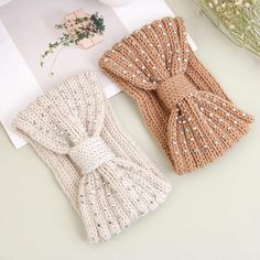 Crochet Headband Pattern, Crochet Baby Hats, Knitted Headband, Knit Crochet, Diy Baby Headbands, Diy Headband, Knitting Patterns Free, Crochet Patterns, Baby Winter Hats
