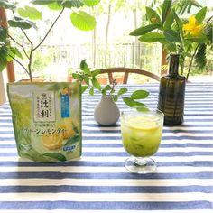 KATAOKA Tsujiri Green Lemon Tea with Uji Matcha and Honey 180g - Made in Japan - TAKASKI.COM Uji Matcha, Japan Country, Healthy Drinks, Summer Time, Herbalism, Lemon, Honey, Tea, Green