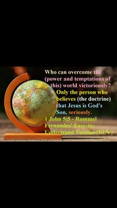 1 John 5:5 2 Samuel 5, Hymns Of Praise, Ecclesiastes 12, People Can Change, John 5, Marriage Vows, How Many Kids, Bible Knowledge, Wrong Person