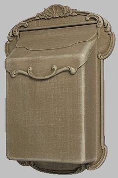 """Vienna Mailbox (White and Gold) by Get My Mailbox and MORE!. $149.00. Height 17 1/2""""; Ext. 4""""; Scrolls Included (not shown); Width 13"""". This is a very ROOMY Mailbox"""