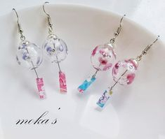 Kawaii Jewelry, Kawaii Accessories, Cute Jewelry, Unique Jewelry, Diy Resin Art, Resin Crafts, Ear Piercing Studs, Diy Crafts For Girls, Japanese Stationery