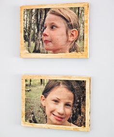 Make photo art for your home or as gifts using a clever transfer technique that allows you to embed your favourite photos onto timber. #photos #diy