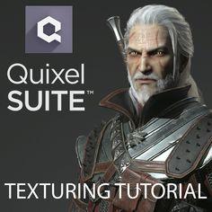 Geralt - texturing tutorial with Quixel Suite, Georgian Avasilcutei on ArtStation at https://www.artstation.com/artwork/VkP28