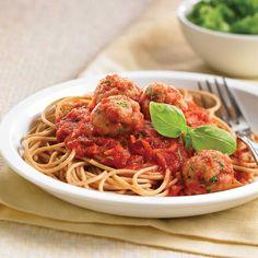 Family favourite spaghetti and turkey meatballs