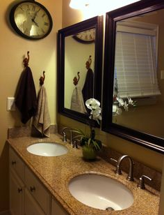1000 Images About Bathroom Mirror Ideas On Pinterest Antique Wall Clocks Bronze Bathroom And